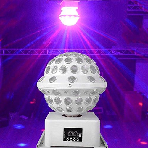 Discokugel LED Party Lampe Beleuchtung 6 Farben DJ Licht Disco Party Lichter Musik und Stimme Steuerung Bühnenbeleuchtung Effektlicht für Weihnachten Party Deko Club Bar Geburtstag Urlaub Dekoration