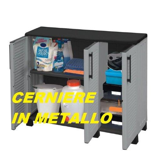 ARMADIO IN RESINA PER ESTERNI CERNIERE IN METALLO CM 105X37X90