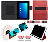 reboon Hülle für Blaupunkt Endeavour TV Seven Tasche Cover Case Bumper | in Rot Leder | Testsieger