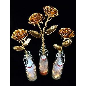 Rose aus Stahl als Dekoration oder Liebesbeweis