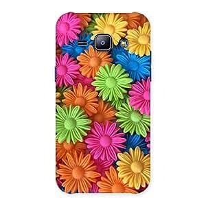 Impressive Art Sunflower Print Back Case Cover for Galaxy J1
