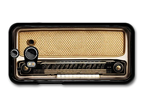 Retro Vintage Radio Illustration in Cool Brown carcasa de HTC One M8