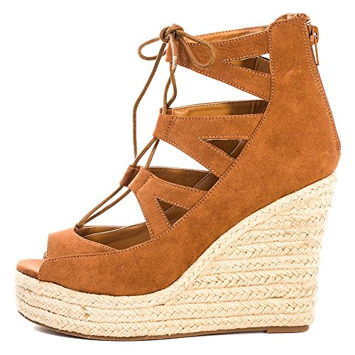 Dolcis Hilary Donna Wedge Sandals Marroncino
