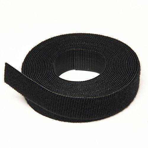 Klettband Brand wiederverwendbar Krawatten - schwarz - 2CM X 25M