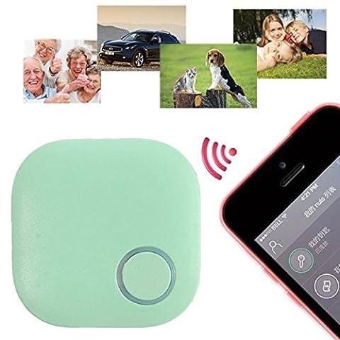 Mini Sans Fil GPS Traceur, GOCHANGE Intelligent Anti-Perte Porte-Clé avec Alarme de Localisation (iPhone HTC Android) pour Enfant, Vieux, Animaux, Porte-Monnaie, Téléphone,