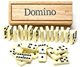 Brimtoy Double six dominoes in wooden box