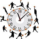 Orologio da Parete Clode® Lusso Fai da te Parete di Basket Silhouette Arte Della Decorazione Adesivi Murali Clock