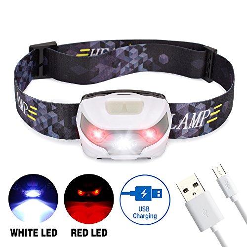 Vovoly LED Stirnlampe wasserdicht mit 4 Lichtmodi für Gassi gehen, Lesen, Arbeiten, Handwerk oder Outdoor Sport,USB Wiederaufladbare