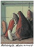 Postkarte A6 • 3902 ''Beleidigte Leberwurst'' von Inkognito • Künstler: Ernst Kahl • Satire