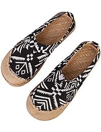 Unisex zuecos Couples sandalias Mules lino transpirable chanclas punta cerrada Confort Zapatillas Pantuflas Casa Oficina Estilo