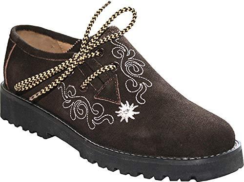 Alpenlife Schuhe Damen Haferlschuhe, Trachtenschuhe, Gr. 36-41 (38, Dunkelbraun)