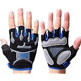 iPretty Fingerless Guantes de Ciclismo con Dedo Corto Mitad Gloves MTB Cycling de Gel para Ciclismo Bike Deporte, Talla XL