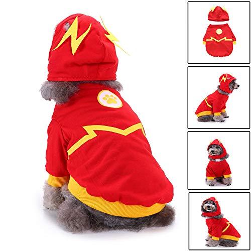 Amphia - Weihnacht Hund,Hundekleidung Blitzhundeklauenanzug (mit Hut) - Mode Haustier Hund Haustier Kostüm verkleiden Sich Kleidung Welpen Doggy Bekleidung Kleidung(Rot,L)