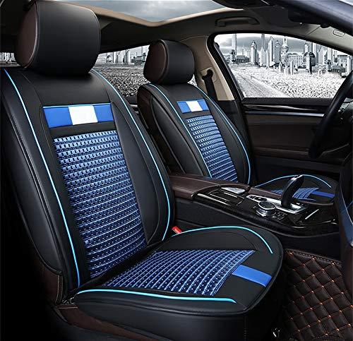 Universal Fit Deluxe Leder Autositzbezüge Vorne Und Hinten Sitzbezüge Set Universal Vorne Hinten Autositz Kissenbezug Full Set Handarbeiten aus PU Leder,Blue Ford Taurus Stereo