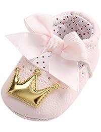 OHQ Scarpe per Neonato, Infante per bambini Ragazze Bowknot Hollow Sandali Principessa Antiscivolo Scarpe Casual Bambino Ragazza Ritaglio Bow Head Sandalo (22, Rosa)