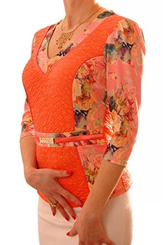 Poshtops -  T-shirt - Donna Coral