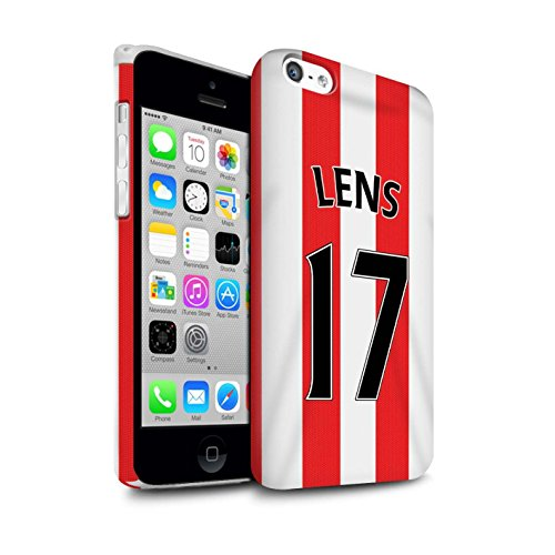 Offiziell Sunderland AFC Hülle / Matte Snap-On Case für Apple iPhone 5C / Pack 24pcs Muster / SAFC Trikot Home 15/16 Kollektion Lens