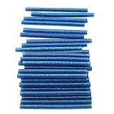 Yinew Paillettes Hot Melt Glue adhésif Bâtons 100x 7mm pour chauffage Pistolet à colle, Lot de 30pièces, EVA, bleu, As description