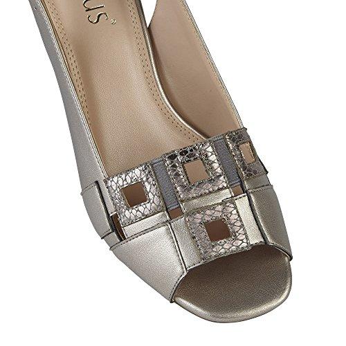 Zapatos De Mujer Lotus Aubrey Smart Sling Back Pewter