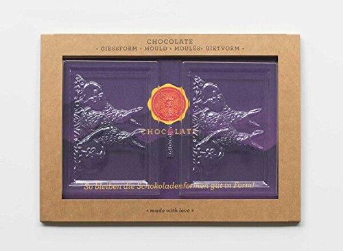 Preisvergleich Produktbild CHOCQLATE Schokoladen-Gießform 'Ostertafel' für 2 Tafeln