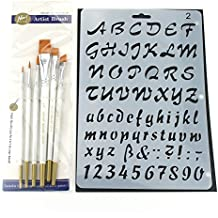 Set de Pinceles y Plantillas, Pintura Brochas y Stencils Set para Artistas/Pintar/