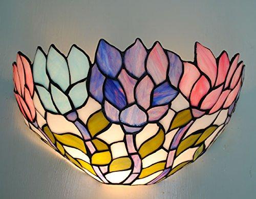 TABUL Continental farbigen Seerosen Tiffany Wand / geeignet für Schlafzimmer Wohn- / Schlafraum / Flur (Tiffany Seerose)