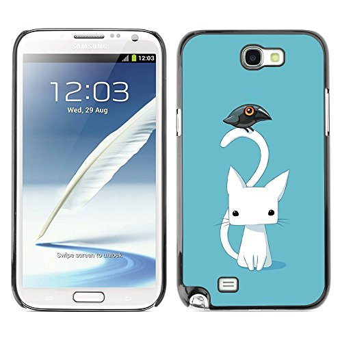 Plastic Shell Protective Case Cover    Samsung Galaxy Note 2 N7100    Kitten Cat Blue Raven @XPTECH (Samsung Galaxy Stellar Hard Case)