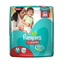 Pampers Medium Size Diapers Pants (20 Count)