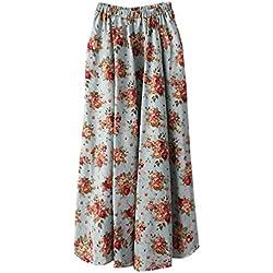 ZKOOO Estampado Floral Maxi Faldas Para Mujeres Boho Larga Falda Verano Cintura Alta Playa Skirts Elegante