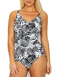 bd1dac99bdb4a Fantasie Womens Kiso Valley Underwire V-Neck Swimsuit with Adjustable Leg