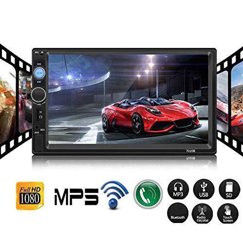 Lovejoy Store Auto-MP5-Player, Bluetooth, Autoradio, 7010B, 2-DIN, Autoradio, Bluetooth, 17,8 cm, HD-Stereo-Rückfahrbild, USB, MP5-Player Multi