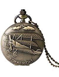 2016 New Arrival Fokker Dr.I Pocket Watch Antique Bronze Fob Watch For Gift