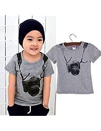 OverDose Niño niños de verano niños de manga corta de la cámara de camisetas O T-shirts
