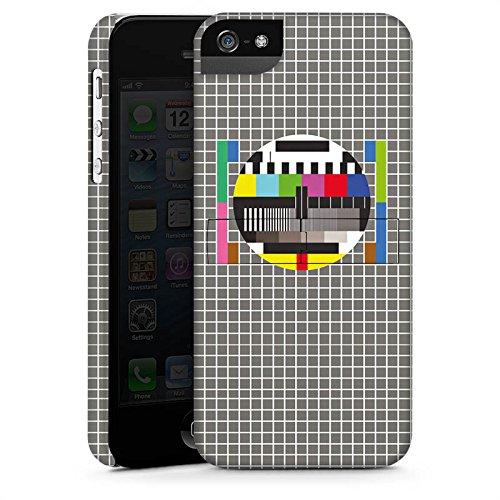 Apple iPhone X Silikon Hülle Case Schutzhülle Fernsehbild Störung Testscreen Premium Case StandUp