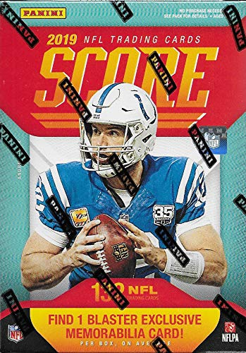 2019 Score Football Factory Sealed Blaster Box of Packs mit exklusiver Memorabilia Card plus 33 Rookie Karten in jeder Box inkl. evtl. Autogramme von Kyler Murray und anderen