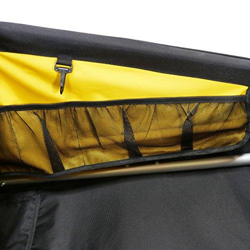 Burley  Fahrradlastenanhänger Nomad, schwarz/gelb, One Size, 3091960000 - 5