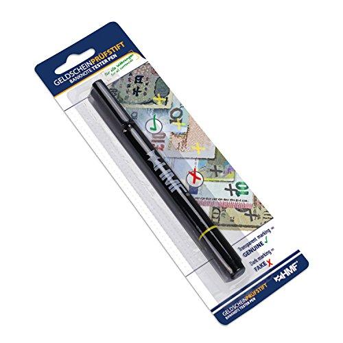 HMF 3600-02 Penna di Verifica delle Banconote, Tester veloce per Banconote, Penna Tester con penna biro 2 in 1