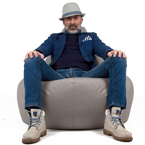 New. Arketicom 68SESSANTOTTO Sitzsack dormosa Fußstütze waschbar Sitzsack Wasserabweisend von modernes Design Couchtisch für Innen und Außen Gefüllt mit Styroporkügelchen Modern rot