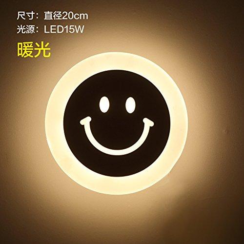 Stilvolle Bad Spiegel vorne Lichter, Bad Rasierlichter, moderne Make-up Lichter, Bad Spiegel Lichter,Smiley warmes Licht