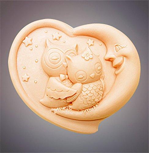 YL paar eule m281 silikon seifenform handwerk schimmel diy handgemachte seife schimmel (Silikon-formenbau-gummi)