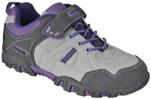 Trespass Mitsy, Chaussures de Randonnée Basses Fille Gris - Viola