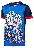 Equipe de FRANCE de football Maillot FFF - Champion du Monde - Collection Officielle Taille Enfant garçon 10 Ans