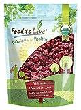 Food to Live Mirtillo Rosso Secco Bio (Biologico, Organic, non OGM, cascer, insoddisfatto, alla rinfusa) - 453 grammi