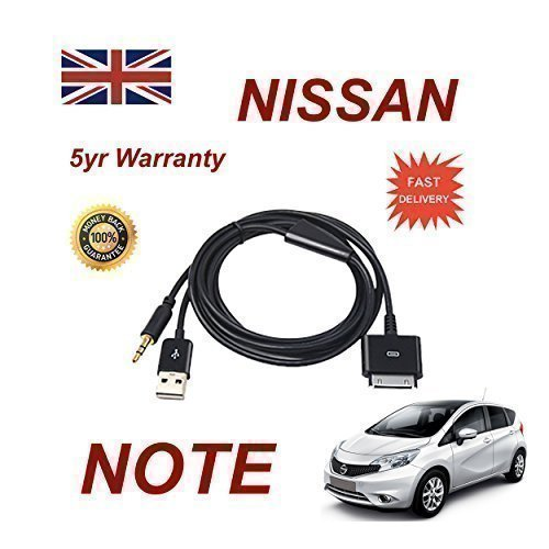 nissan-note-compatible-iphone-ipad-itouch-35mm-audio-and-usb-dock-cable-aux-cable-apple-dock-connect