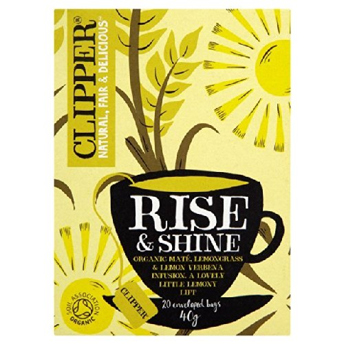 Clipper Rise & Shine Organic Mate, Lemongrass & Lemon Verbena Infusion20 per pack