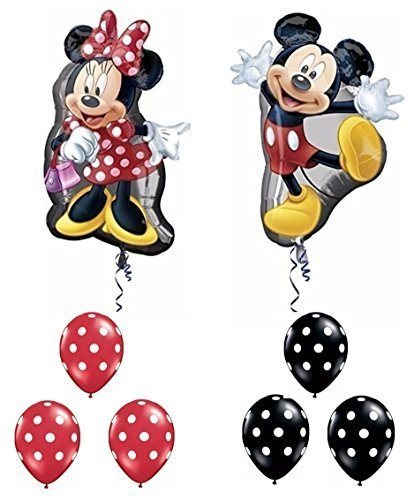Mickey and Minnie Mouse Full Body Supershape Balloon Set by Party Supplies by Party Supplies