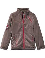 Peak Mountain Falono/xj - Chaqueta de esquí para niña, color marrón, talla FR : 8 ans (Talla fabricante : 8)