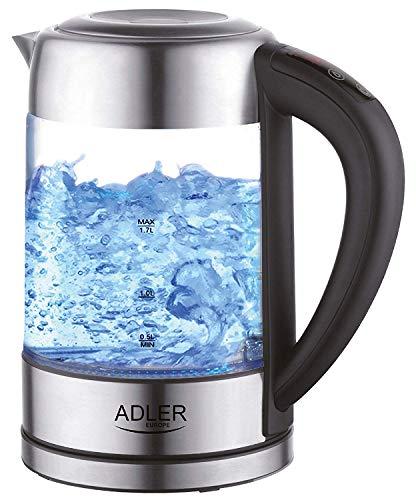 Glas Wasserkocher Edelstahl mit Temperaturwahl | Teekocher | 100{3a5c407b47ca0f0a5ffbc275262c4dafeb6fff9c1df06f99eb0809ed71989aba} BPA FREI |  Warmhaltefunktion | LED Beleuchtung im Farbwechsel | Temperatureinstellung (60°C-100°C) | Glaswasserkocher | 1,7 Liter