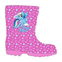 My Little Pony Girls Wellington Boots Rubber Wellies(26 - UK 8.5) Pink