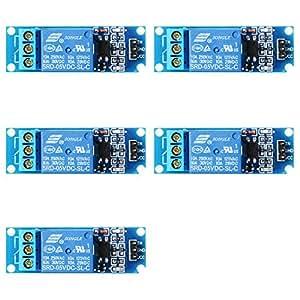 XCSOURCE 5PCS 5V 1 Channel Relay Shield modulo accoppiatore Ottico per Il PIC AVR DSP Arm Arduino TE213